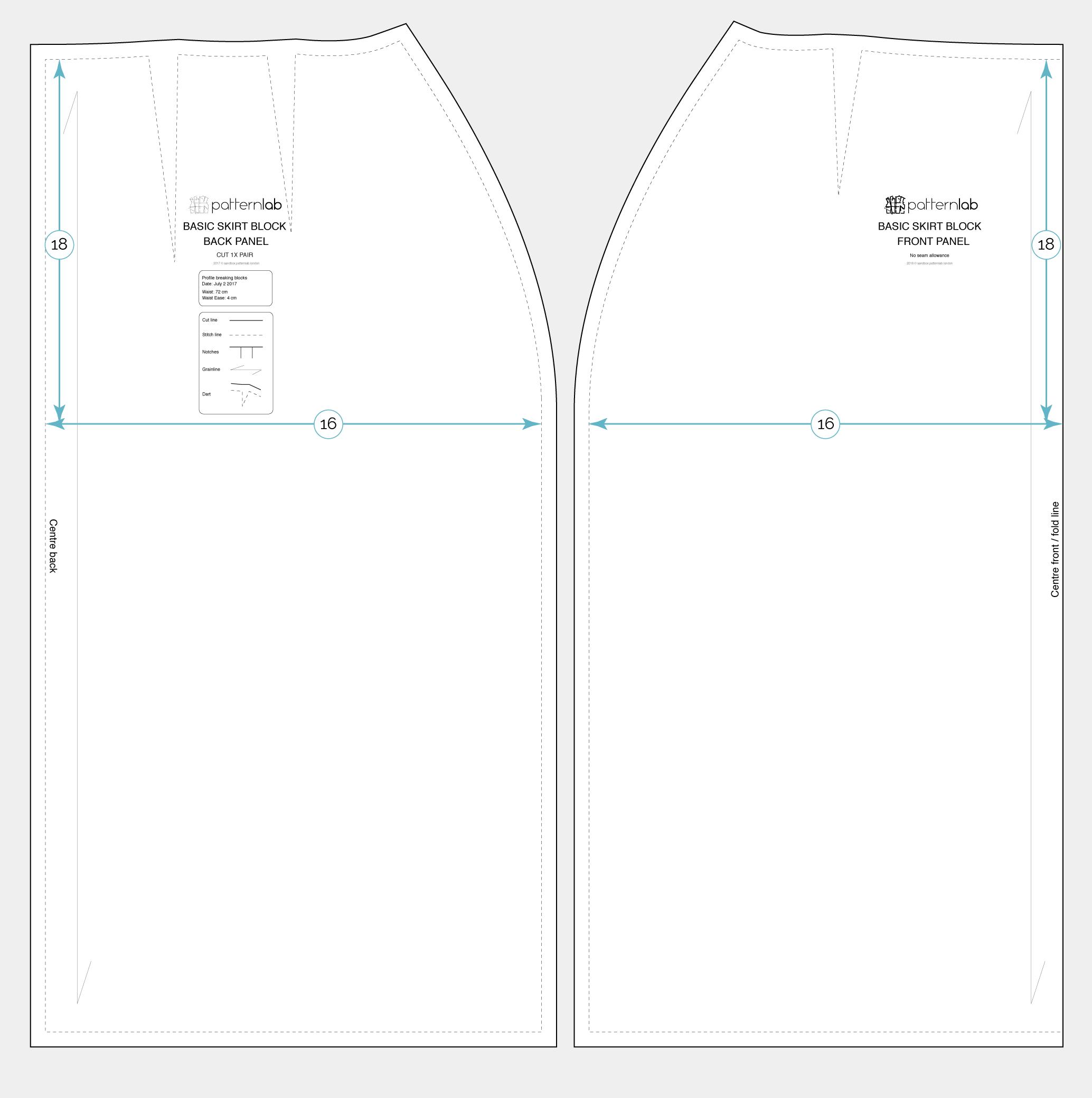 Basic skirt block - Patternlab