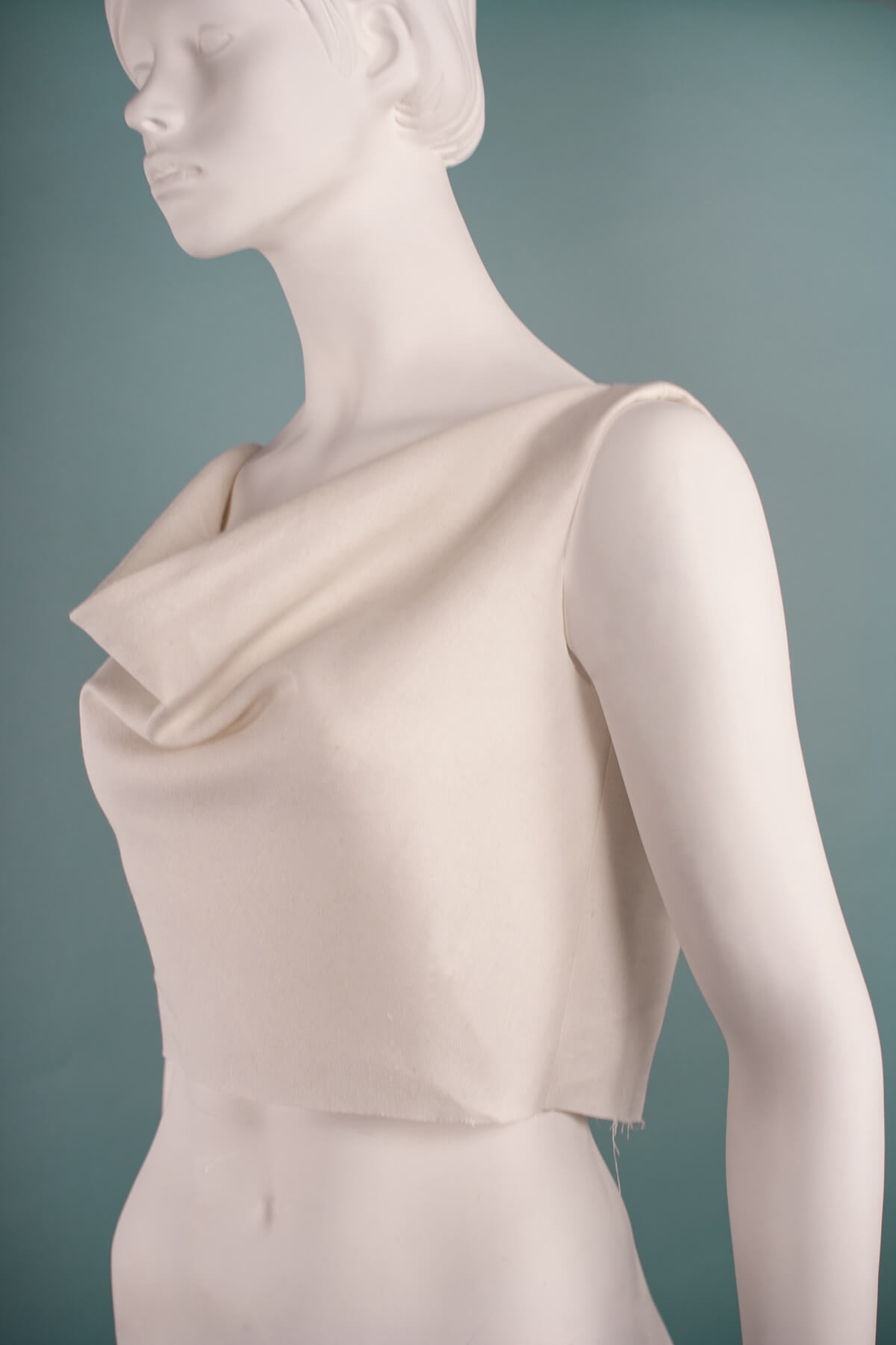 Cowl neck sewing pattern side