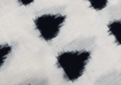 japanese-Ikat-cotton-fabric-black-spot-dot