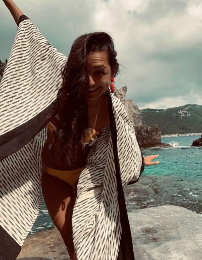 poncho kimono bikini cover-up sewing pattern patternlab