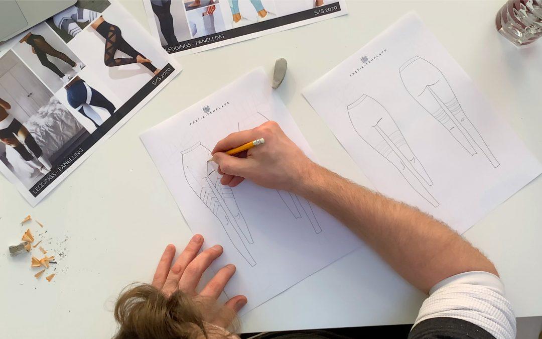 SE 2. EP 1. Fashion Design Leggings: Image Inspiration & Initial Fashion Sketches.