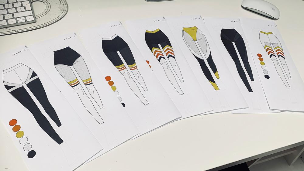 S2. EP2. Leggings Fashion Illustrations – Transforming hand-drawn sketches into digital fashion illustrations