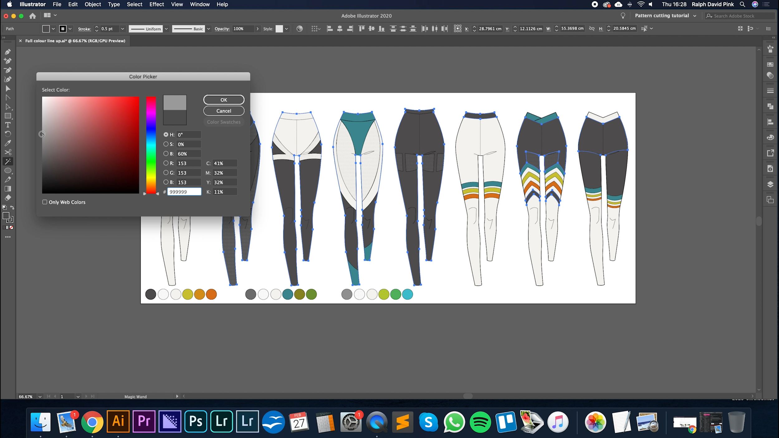 fashion illustration in Adobe Illustrator free courses tutorials patternlab