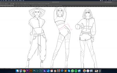 Digital Fashion Illustration in Adobe Illustrator
