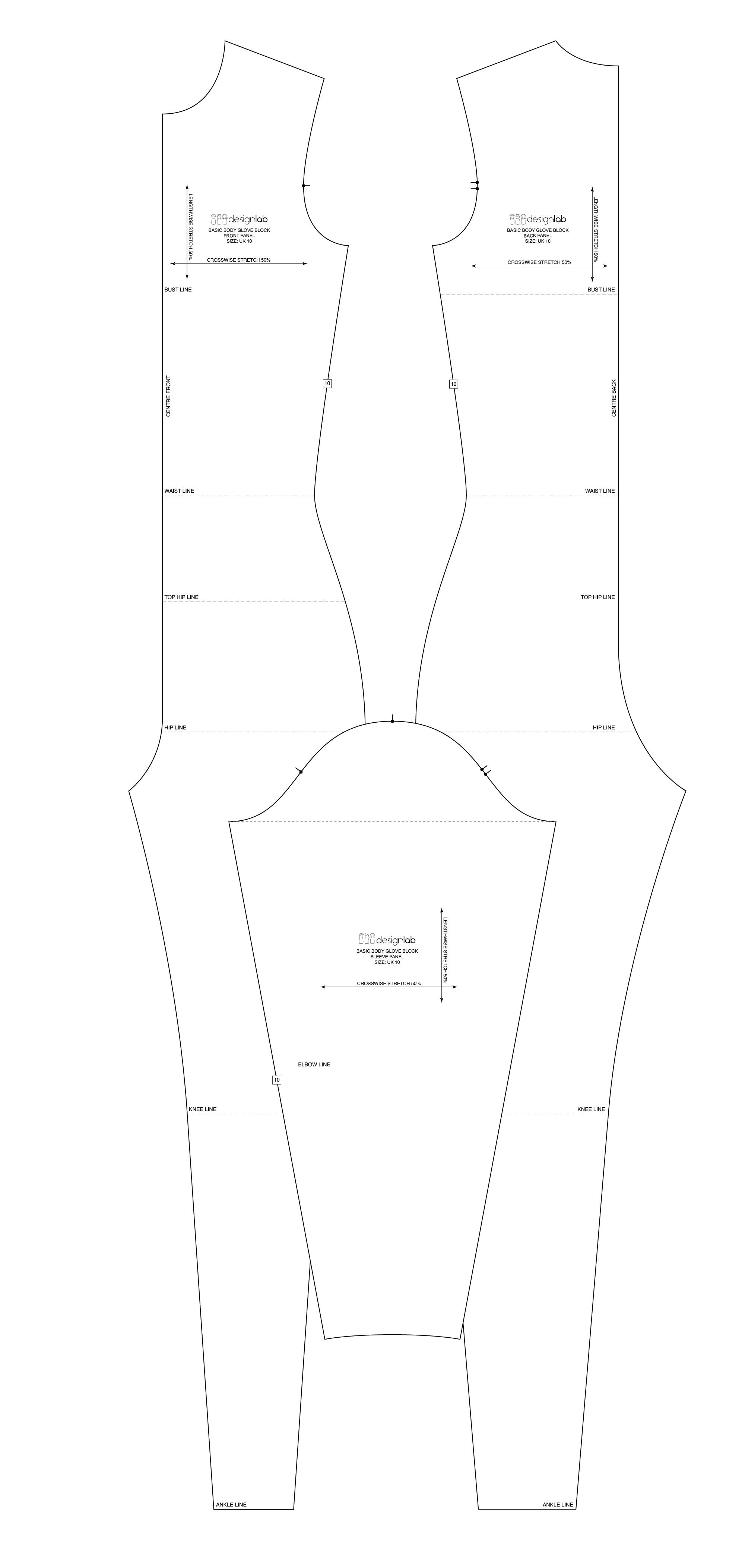 stetch dress basic block patternlab.london
