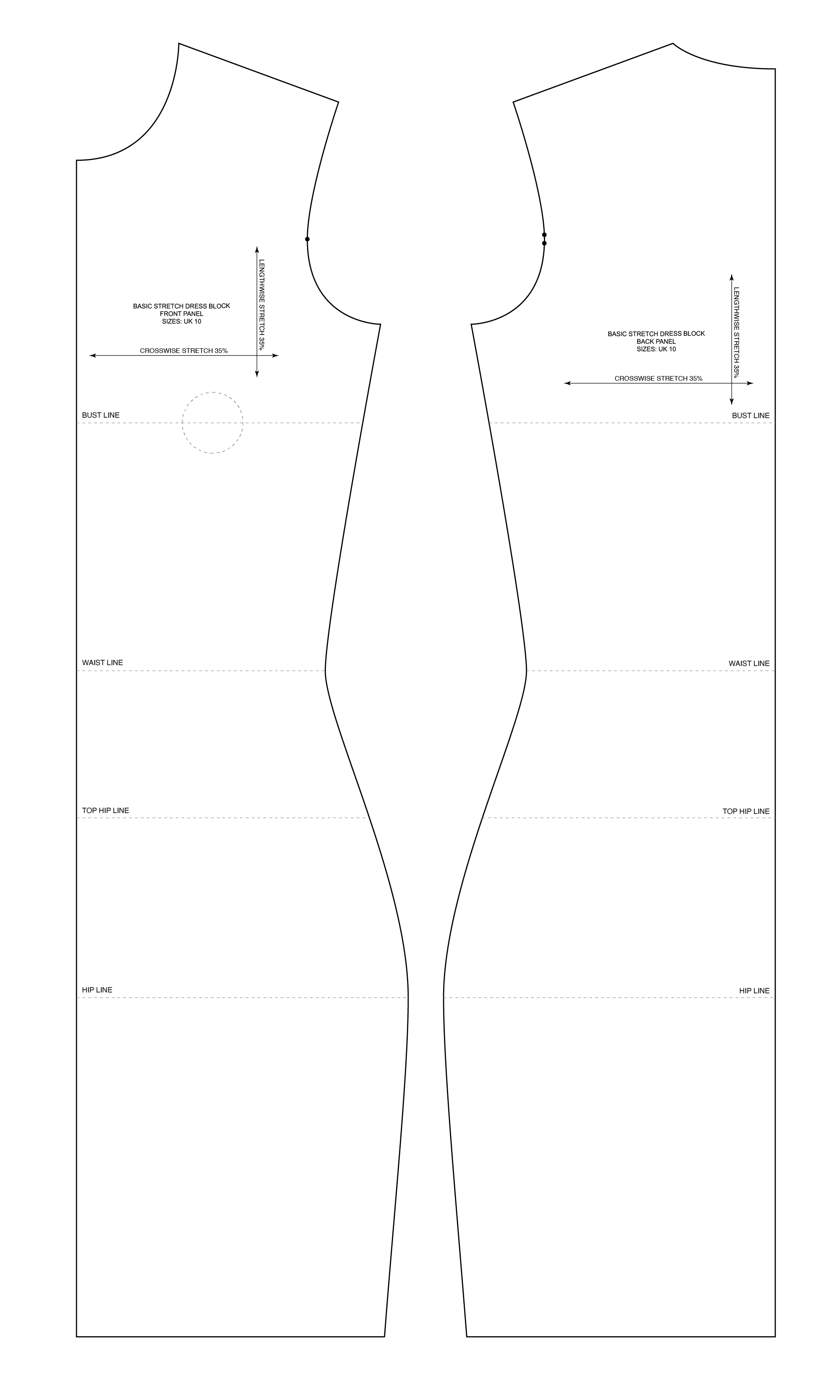 Basic Sewing Patterns And Slopers To Fit Your Measuremnts Patternlab